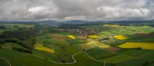 Panorama of Wenslingen, aerial view, Basel-Landschaftの写真素材 [FYI02342762]