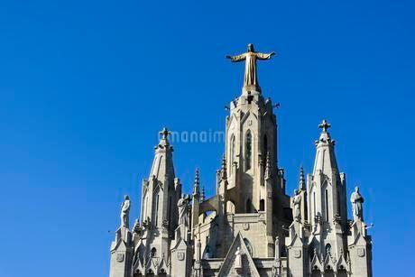 Sagrat Cor Church, Tibidabo, Barcelona, Cataloniaの写真素材 [FYI02342770]