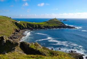 Cape Cornwall, near St Just in Penwith, Cornwall, Englandの写真素材 [FYI02342826]