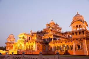 Albert Hall with Central Museum, Jaipur, Rajasthan, Indiaの写真素材 [FYI02342857]
