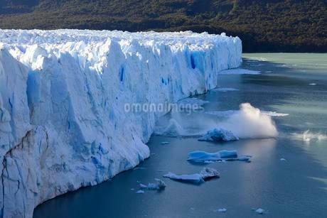 Perito Moreno Glacier calves, ice breaks into the seaの写真素材 [FYI02342895]