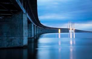 Oresund Bridge, oresundsbroen, world's longestの写真素材 [FYI02342936]