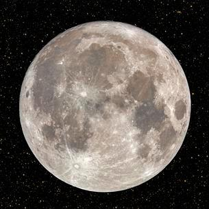 Full moon at night with starry skyの写真素材 [FYI02342941]