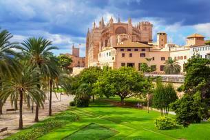 La Seu Cathedral, Palma de Mallorca, Mallorca, Balearicの写真素材 [FYI02342958]