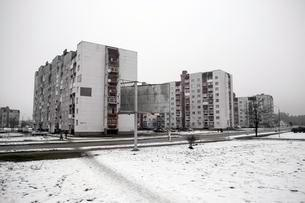 Flats built for the survivors of the Chernobyl disasterの写真素材 [FYI02343000]