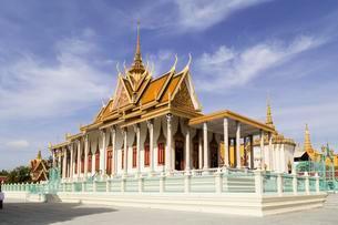 Silver Pagoda, Royal Palace, Phnom Penh, Cambodia, Asiaの写真素材 [FYI02343002]