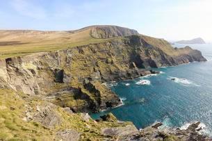 Kerry Cliffs, Portmagee, County Kerry, Ireland, Europeの写真素材 [FYI02343021]