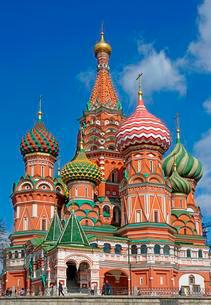Saint Basil Cathedral, Red Square, Moscow, Russia, Europeの写真素材 [FYI02343036]