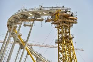 Construction site, Khalifa International Stadium, Dohaの写真素材 [FYI02343094]