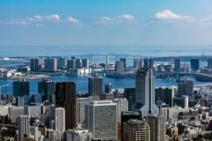 City view, harbour area, Tokyo, Honshu Island, Japan, Asiaの写真素材 [FYI02343164]