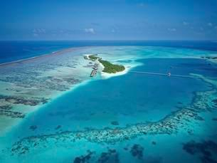 Conrad Maldives Rangali Island, luxury resort, coral reefの写真素材 [FYI02343165]