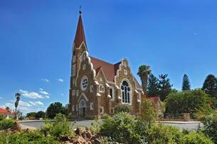 Protestant Church of Christ, 1896, Windhoek, Namibia, Africaの写真素材 [FYI02343187]