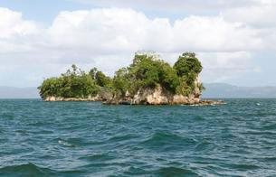 Cayo or Rock Island, Los Haitises National Park, Samanaの写真素材 [FYI02343344]