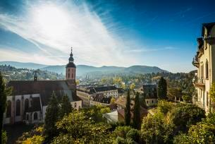 Panorama with collegiate church, Baden-Baden, Black Forestの写真素材 [FYI02343351]