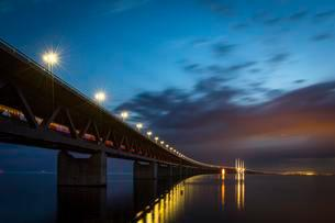 Oresund Bridge, oresundsbroen, world's longestの写真素材 [FYI02343368]