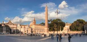 Obelisk, Piazza del Popolo, Rome, Lazio, Italy, Europeの写真素材 [FYI02343390]