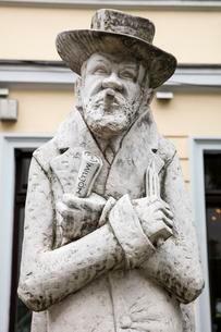 Heinrich Zille, Monument, Nikolaiviertel quarter, Berlinのイラスト素材 [FYI02343488]