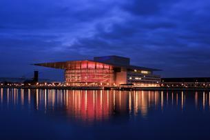 Copenhagen Opera House, Operaen, at night, Copenhagenの写真素材 [FYI02343609]