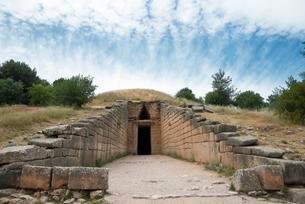 Treasure house of Atreus, dome grave, Mykene, Argolisの写真素材 [FYI02343619]