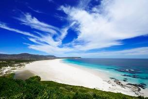 Wide bay, sandy beach, Noordhoek Beach, Cape Town, Westernの写真素材 [FYI02343633]