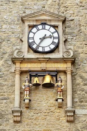 Carfax Tower Clock, St Martin's Tower, Oxford, Unitedの写真素材 [FYI02343688]
