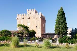 Restaurant Porxada de sa Torre at Torre de Canyamelの写真素材 [FYI02343804]