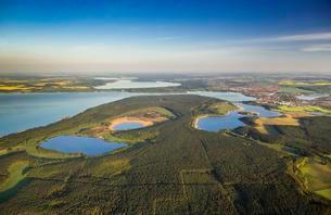 Aerial view, Waren National Park, Waren, Mecklenburg Lakeの写真素材 [FYI02343847]