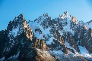 Mont Blanc in the morning, Chamonix, Alps, France, Europeの写真素材 [FYI02343883]