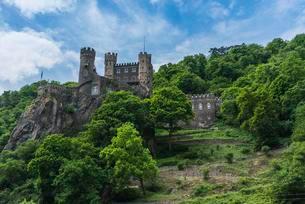 Rheinstein Castle, Middle Rhine Valley, Trechtingshausenの写真素材 [FYI02343885]