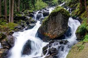 Rocks in the mountain stream, Val Genova, Genova Valleyの写真素材 [FYI02343887]