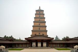 Giant Wild Goose Pagoda, Buddhist pagoda, X'ian, Shaanxiの写真素材 [FYI02343920]