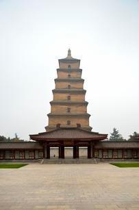 Big Wild Goose Pagoda, Buddhist pagoda, Xi'an, Shaanxiの写真素材 [FYI02343983]