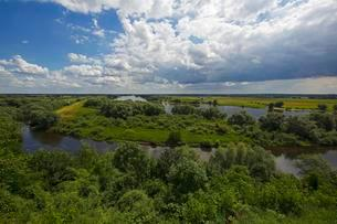 Glacial river valley of the Elbe in the UNESCO Biosphereの写真素材 [FYI02344015]