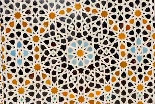 Madrasa Bou Inania, madrasas, Arabic ornaments, Fesの写真素材 [FYI02344020]