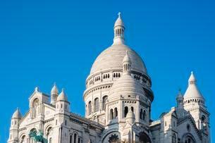 Basilica of Sacre Coeur, Montmartre, Paris, ?le-de-Franceの写真素材 [FYI02344023]