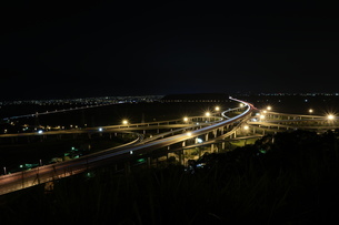 Overview of Qingshui Interchange in Tauchung Taiwan at the nightの写真素材 [FYI02344142]