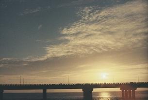 overview of the bridge and skyの写真素材 [FYI02344281]