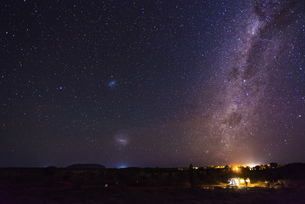 Galaxy. the light in the dark nightの写真素材 [FYI02344404]