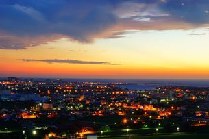 Overview of the Hsinchu City at the sunsetの写真素材 [FYI02344541]