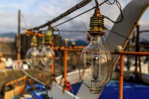 Fishing Light; Shenao Fishing Harbor in Taiwanの写真素材 [FYI02344653]