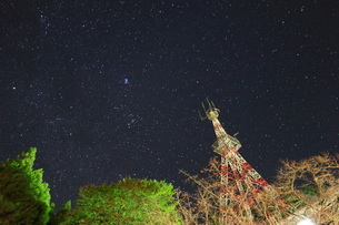 the sky filled with starsの写真素材 [FYI02344723]