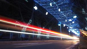Traffic Light Trailsの写真素材 [FYI02345142]