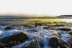 Sea Waves and Beachの写真素材 [FYI02345182]