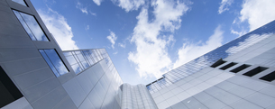low angle of office buildingの写真素材 [FYI02345297]
