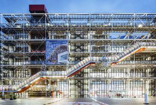 Le Centre Georges-Pompidou; Paris; Franceの写真素材 [FYI02345469]