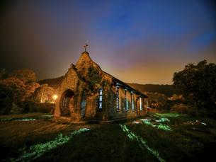 Nightview of Jiguopai Old Churchの写真素材 [FYI02345589]