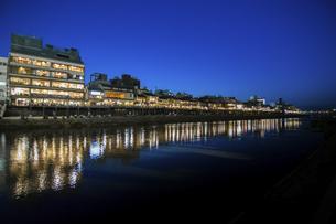Panaroma of Kamogawa Kyoto Japanの写真素材 [FYI02345694]