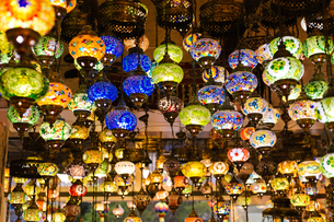 handmade turkish lanterns;Turkeyの写真素材 [FYI02345713]