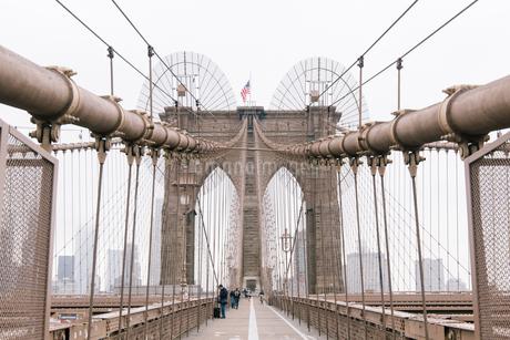 Brooklyn Bridge;New York;USAの写真素材 [FYI02345751]