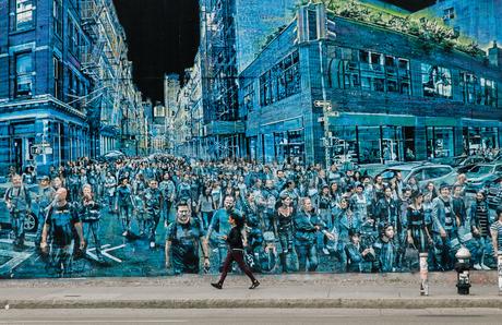 Art painting wall;New Yorkの写真素材 [FYI02346038]